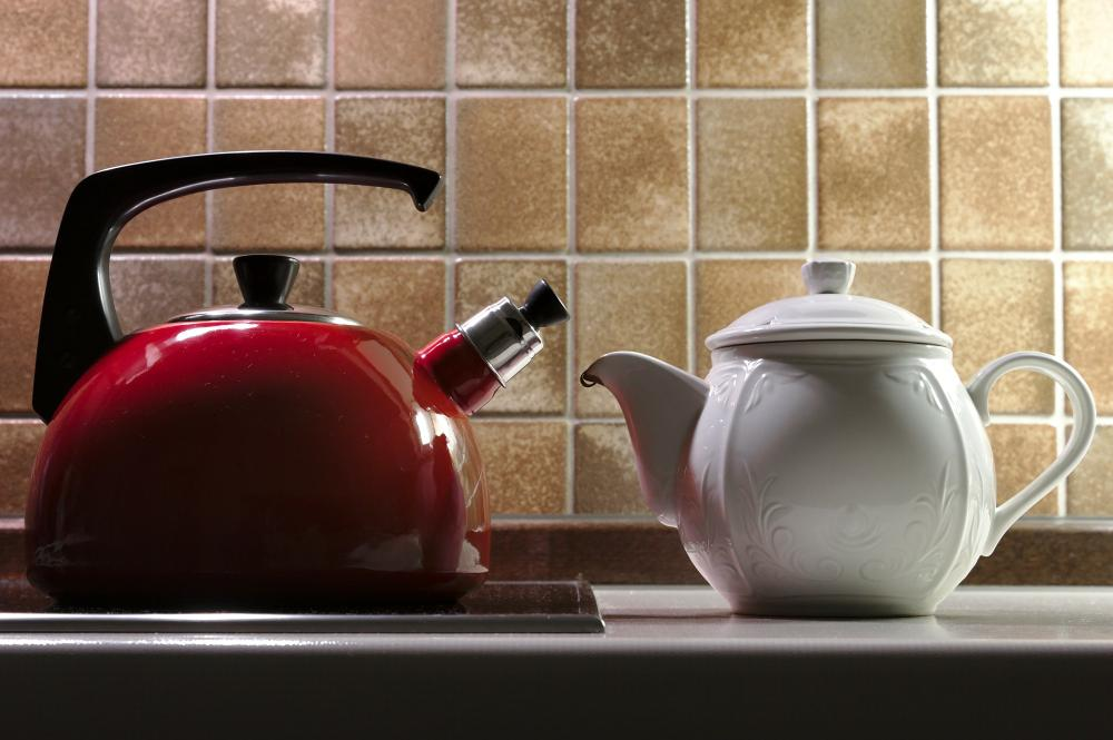 Kettle and teapot