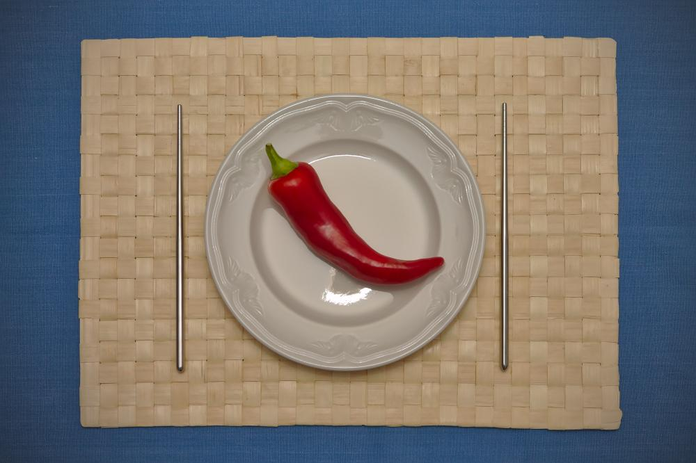 Plate With Pepper